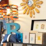 Miroir, lampe et cartes - Les Cintrées du Vintage